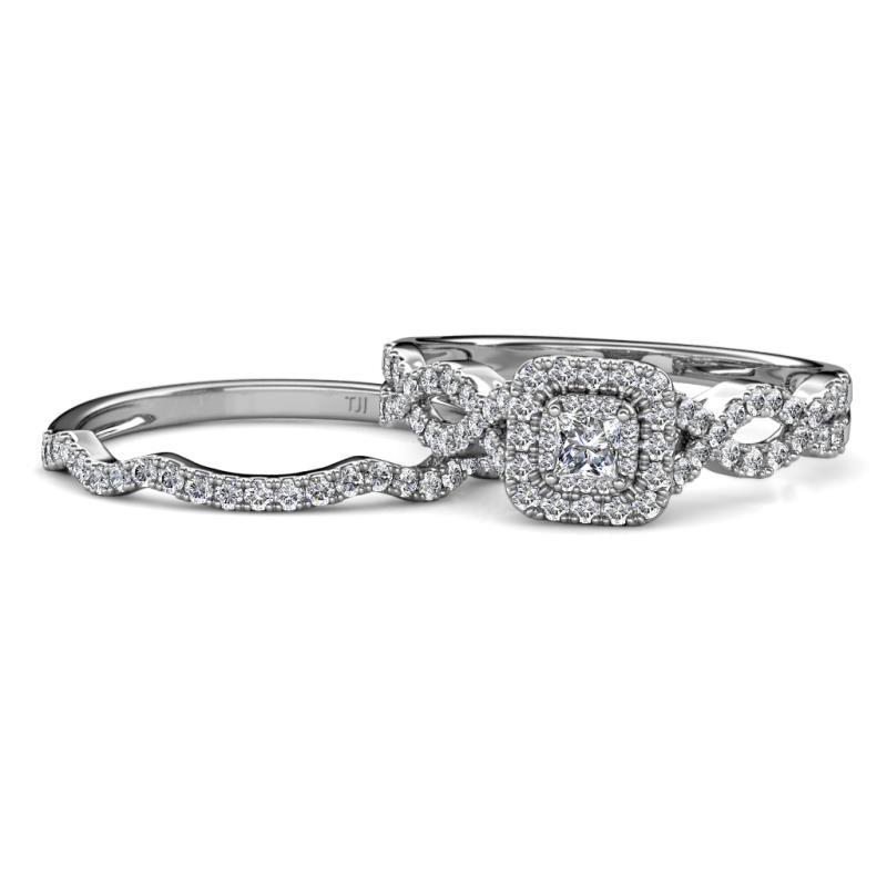 2d68d95443f83 Prima Diamond Double Halo Bridal Set Ring