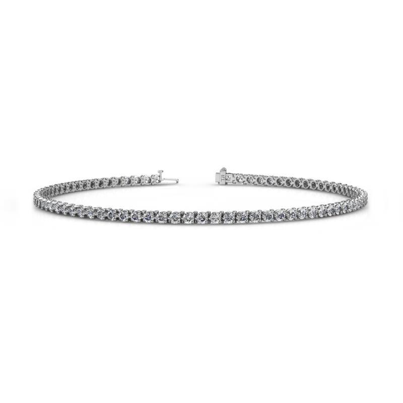Cliona 2.00 mm Lab Grown Diamond Eternity Tennis Bracelet - Lab Grown Diamond 3-Prong Womens Eternity Tennis Bracelet 1.80 ctw 14K White Gold