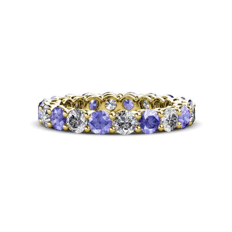 a7664020bcdae 3.40 mm Tanzanite and Lab Grown Diamond Eternity Band