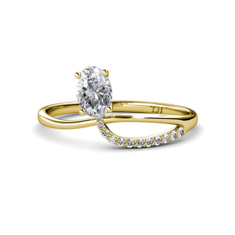 Naysa Delicat Oval Diamond 1.12 ctw Promise Ring - Oval Cut (7x5 mm) Diamond Womens Promise Ring 1.12 ctw 14K Yellow Gold