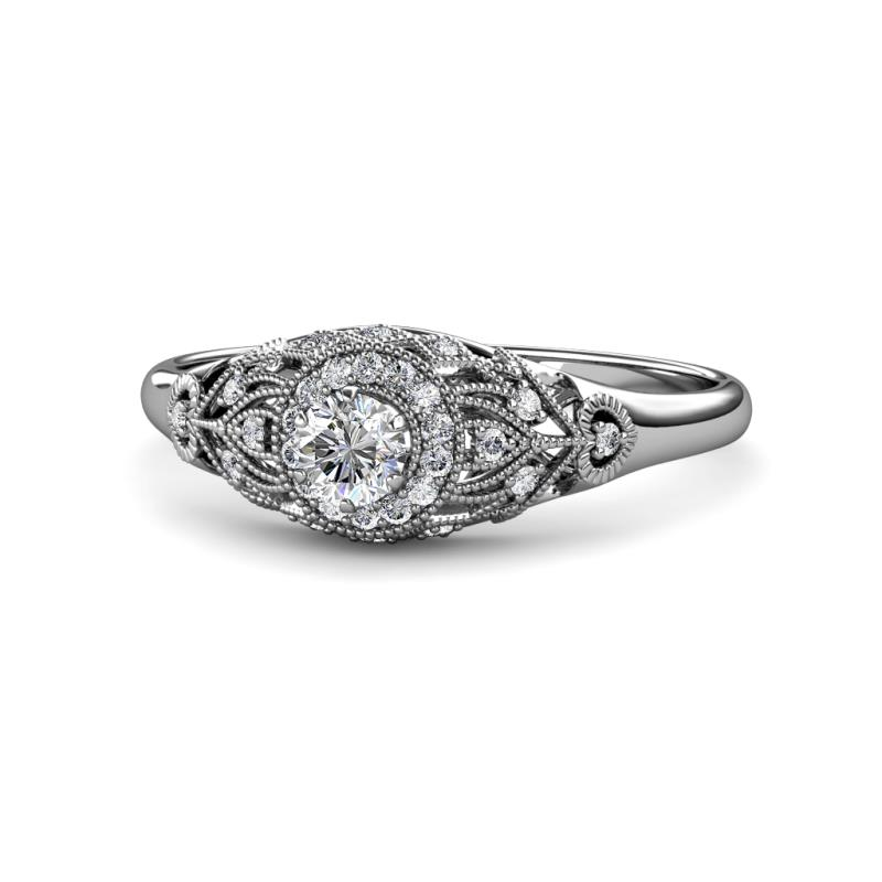 Bonita Round AGS Certified Diamond Anniversary Ring - Round AGS Certified Diamond Anniversary Ring 0.60 ctw 14K White Gold
