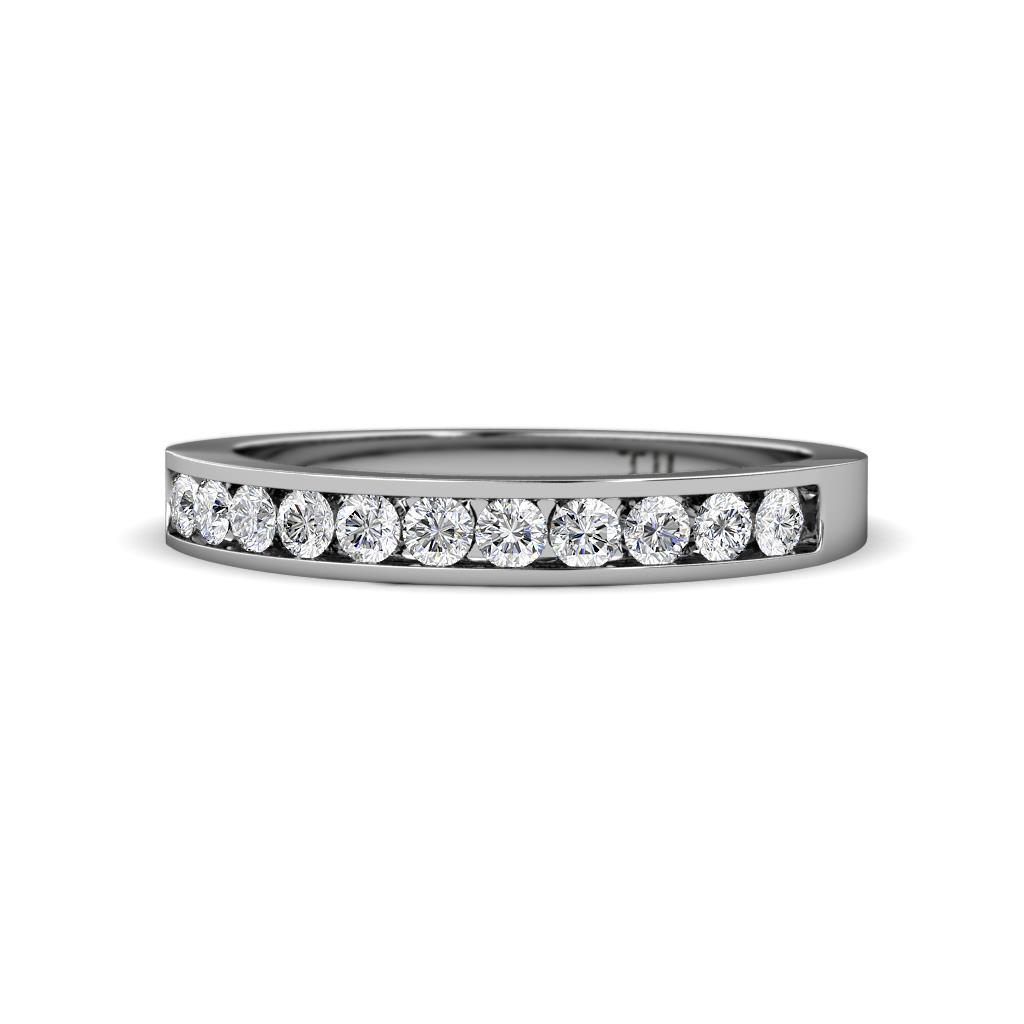 Ryann 2.00 mm Diamond Wedding Band - Diamond 11 Stone Channel Set Womens Wedding Band Stackable 0.33 ctw Platinum