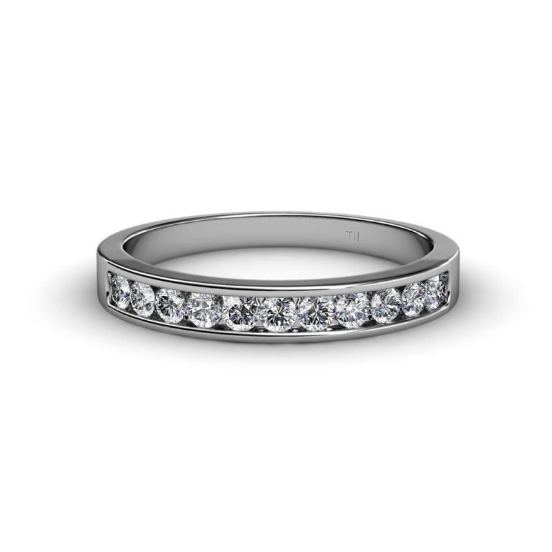 Ryann 2.30 mm Diamond Wedding Band - Diamond 11 Stone Channel Set Womens Wedding Band Stackable 0.50 ctw Platinum
