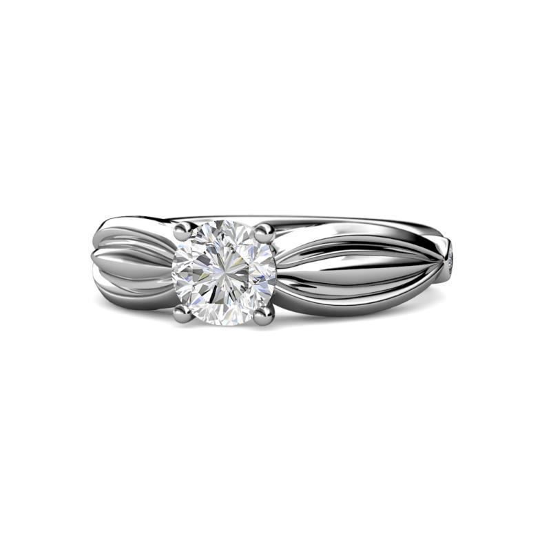 Kayla Signature Diamond Solitaire Plus Engagement Ring - Diamond Solitaire Plus Womens Engagement Ring 1.07 ctw Platinum