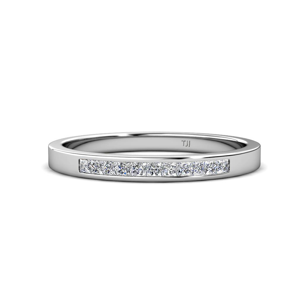 Aaryn 1.50 mm Princess Cut Diamond Wedding Band - Princess Cut (1.50 mm) Diamond Channel Set Womens Wedding Band Stackable 1/3 ctw 14K White Gold