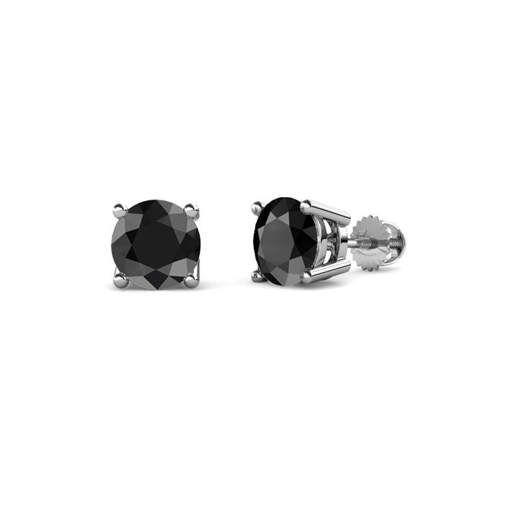 77884c34b Black Diamond Four Prong Solitaire Womens Stud Earrings 0.54 ctw 14K White  Gold More Details ... 5 (2 Reviews). 1 ...