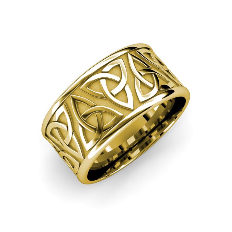 Arden High Polish 7 mm Celtic Trinity Knot Wedding Band - High Polish 7 mm Celtic Trinity Knot Unisex Wedding Band 18K Yellow Gold